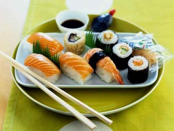 Калорийность суши и роллов