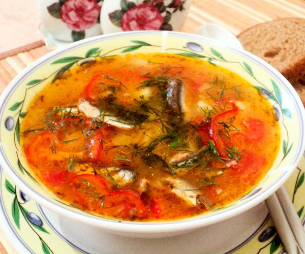 Приготовить суп из консервы кильки