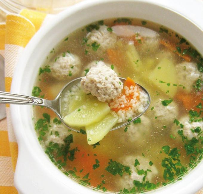 Суп из тыквы с фрикадельками