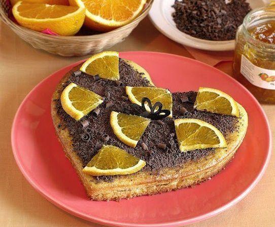 Вкусный постный апельсиновый бисквит