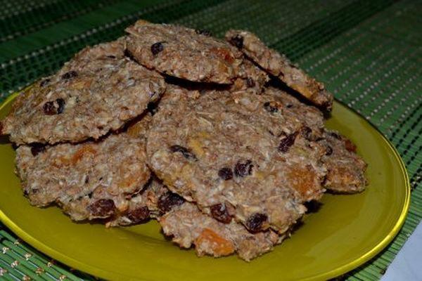 Аппетитные хлебцы из овсянки с сухофруктами