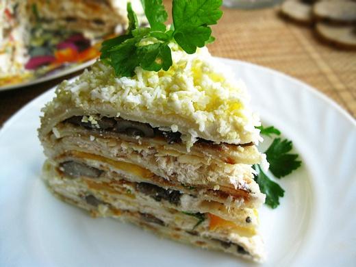 Как приготовить селедочный торт на вафельных коржах