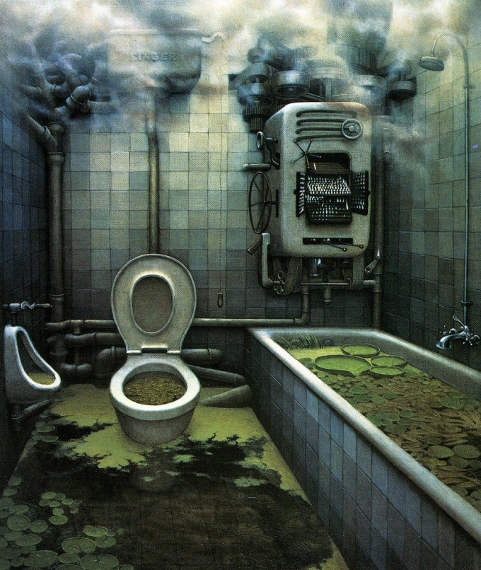 "Jacek Yerka ""Back to nature"""