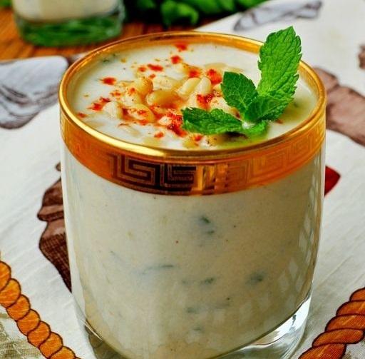 Холодный суп-пюре из кольраби с яблоками