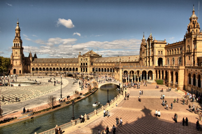 Севилья Площадь Испании фото