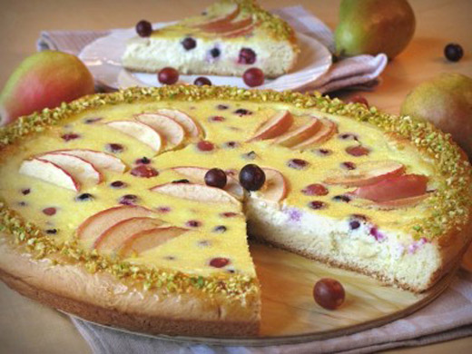 Как испечь фруктовую ватрушку?