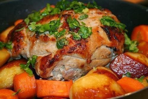 Запеченная свинина с гремолатой