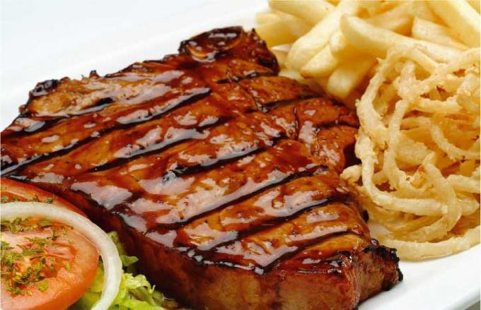 фото жареное мясо с картошкой