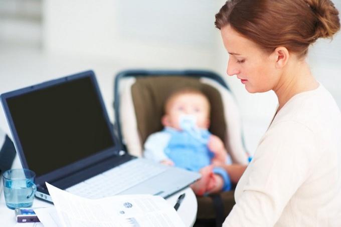 Как успевать работать молодой маме