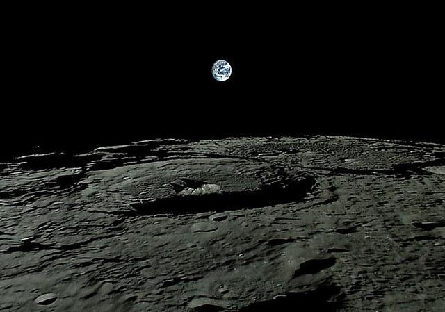 Как Земля выглядит с Луны