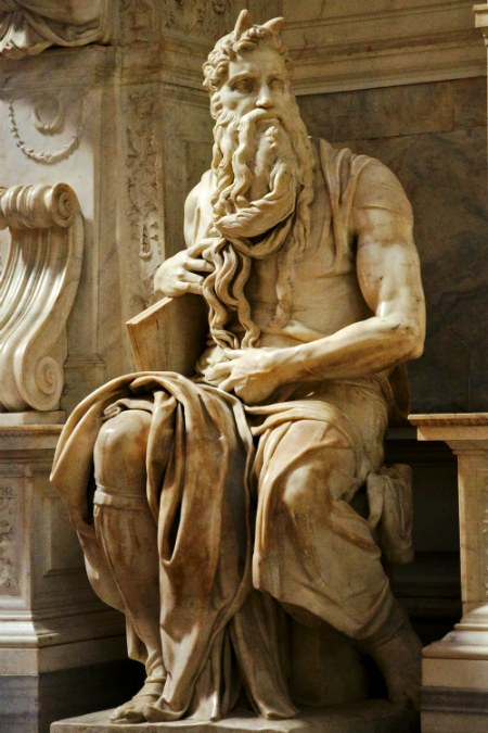 Michelangelo's Moses, without Moses