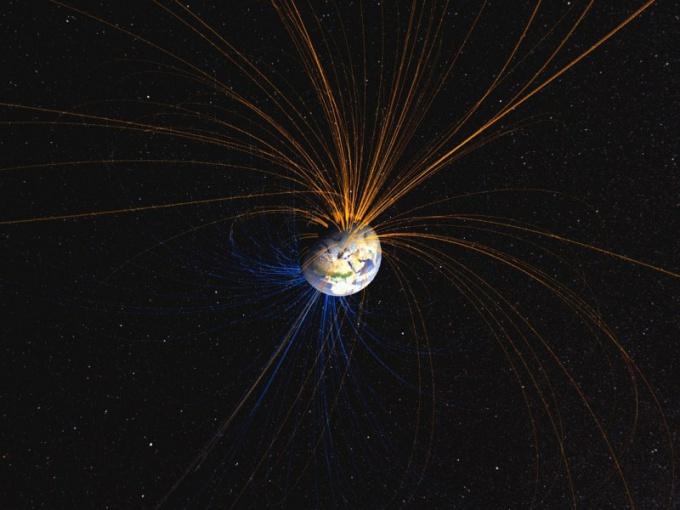Магнитные линии Земли соединяют полюса