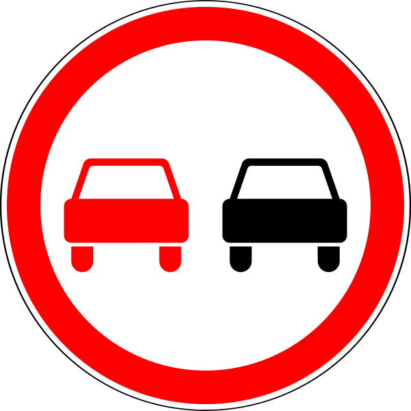 При каких знаках запрещен обгон