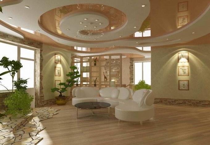 Натяжной потолок способен создать особую атмосферу гармонии и уюта