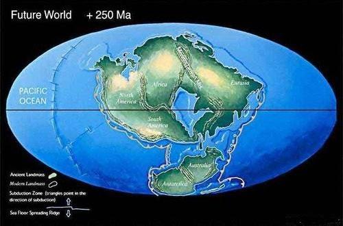 Так будет выглядеть Земля, если материки объединятся в Неопангею