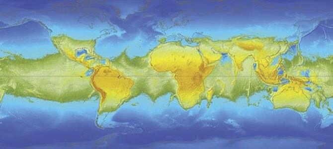 Все материки - вдоль экватора