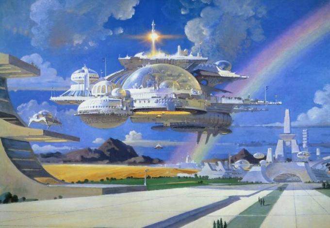 Летающий город будущего