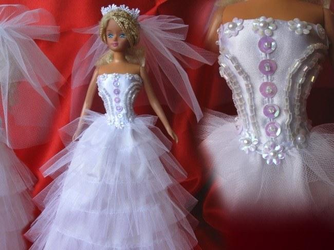 Нарядное платье для куклы