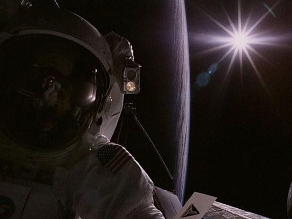 С космического корабля Солнце выглядит иначе