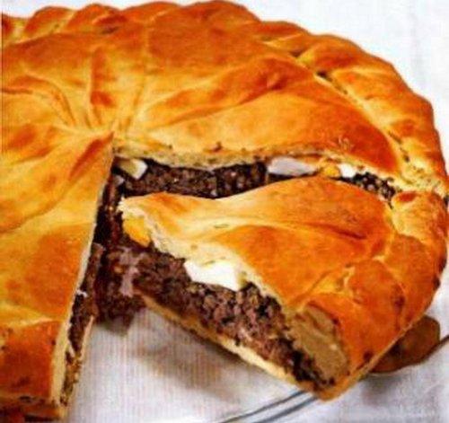 Донской пирог с ливером и луком