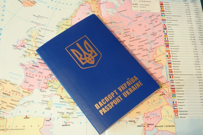 It looks like the passport of Ukraine