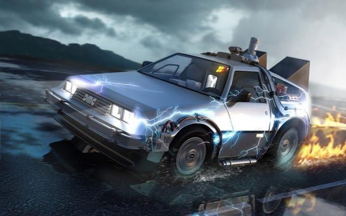 """Как могла бы выглядеть Машина времени. Фильм """"Назад в будущее""""."""