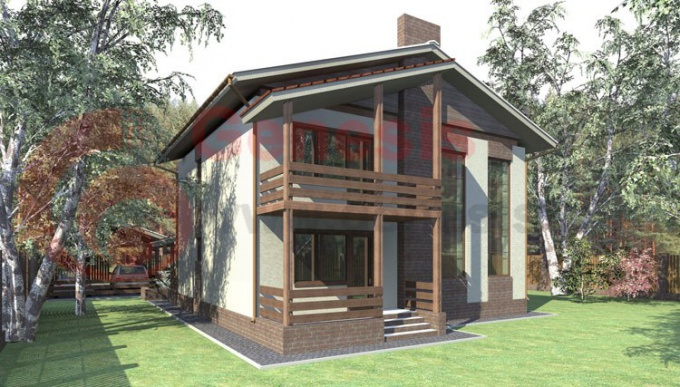 Небольшие каркасные дома можно устанавливать на мелкозаглубленных фундаментах.