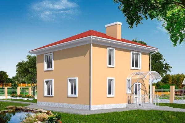 Для небольшого двухэтажного дома подойдет монолитный ленточный фундамент