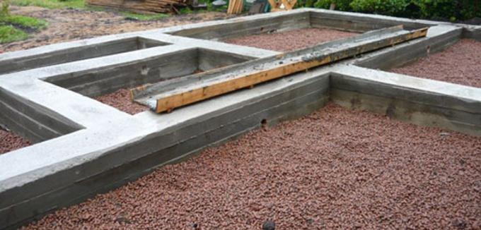 ШИрина ленточного фундамента во многом зависит от толщины несущих стен