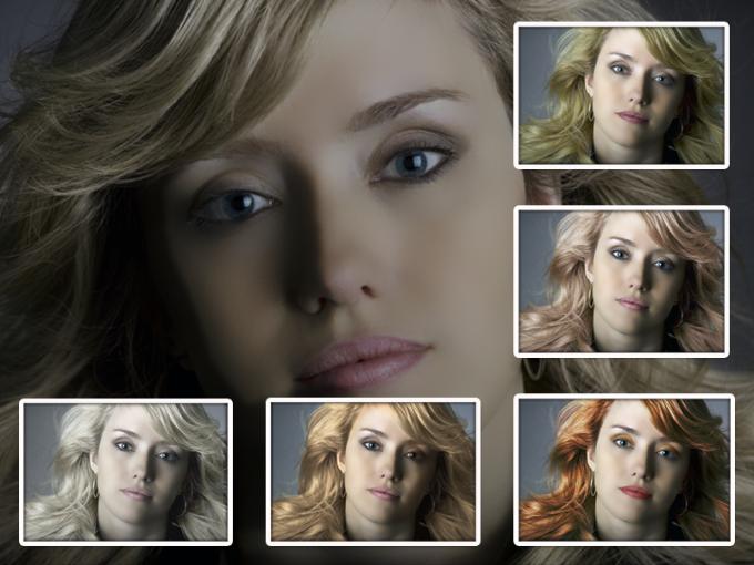 Используя Photoshop можно покрасить волосы в любой цвет