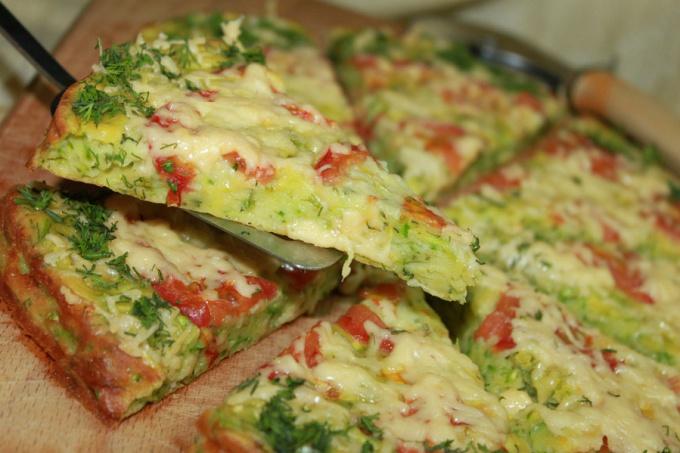Как приготовить пиццу в кабачке