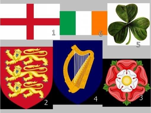 Национальные эмблемы Англии и Ирландии