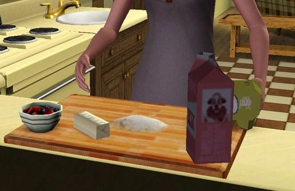 Сим учится готовить
