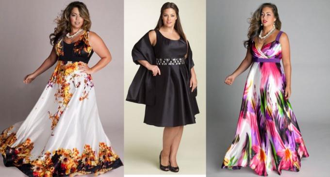 Какие платья идут полным девушкам