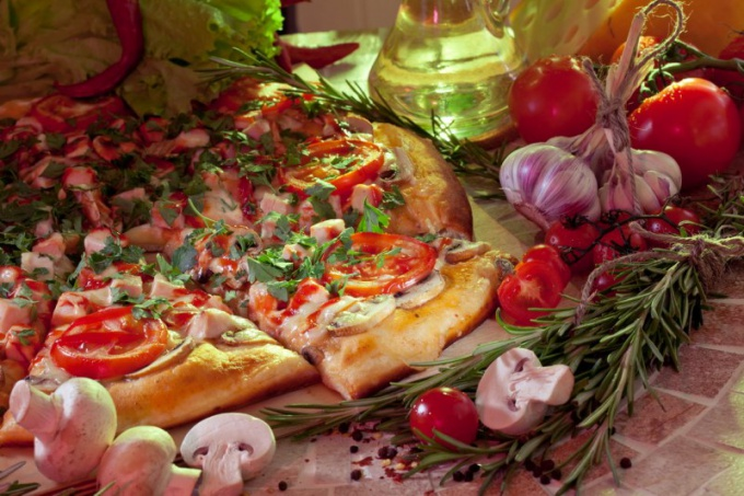 Olive oil is an integral part of this pizza