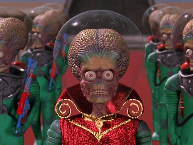 "Кадр из фильма ""Марс атакует!"""