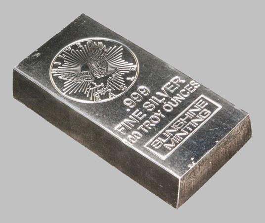 Слиток серебра 999 пробы служит хорошей инвестицией.