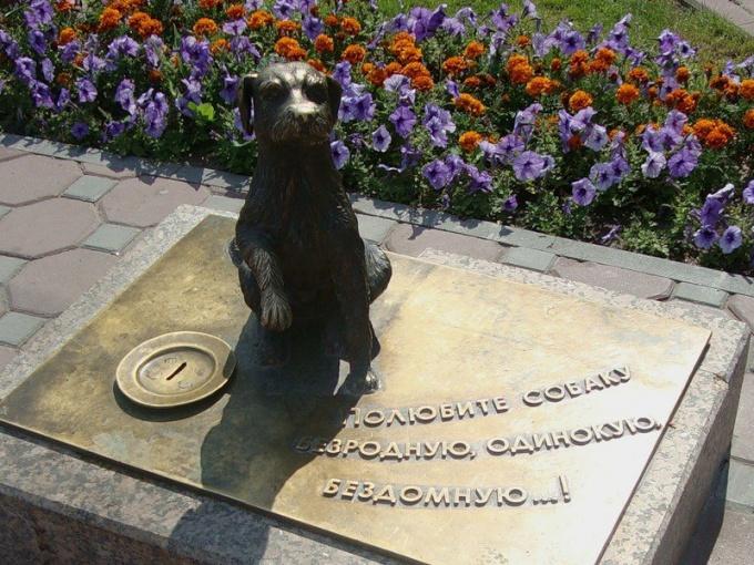 Памятник-копилка в Тюмени