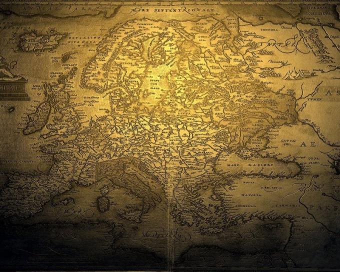 Так выглядел Старый Свет на карте