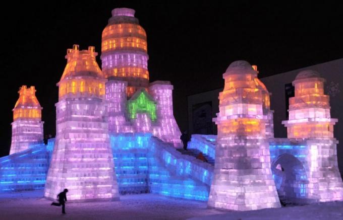 Фестиваль ледяных фигур в Израиле