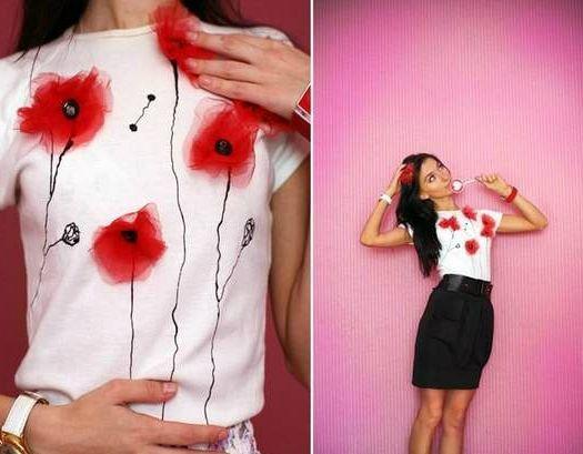 Как украсить свою футболку своими руками фото 579