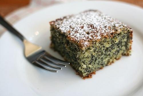 Творожно-маковый десерт
