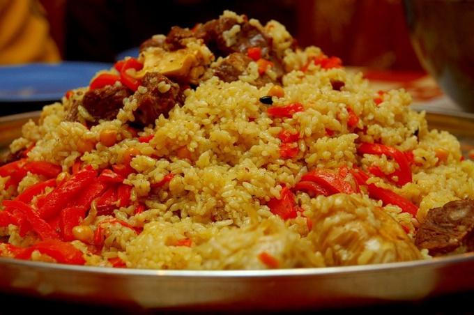 Crisp rice pilaf