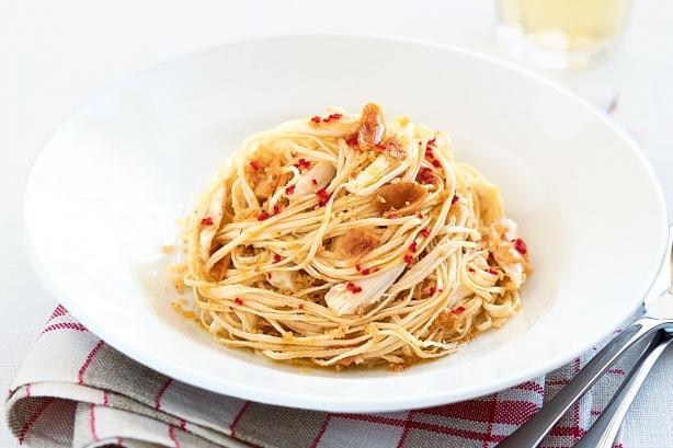 Как приготовить спагетти с апельсиновым песто
