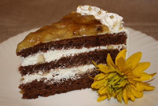 Как приготовить шоколадно-банановый торт