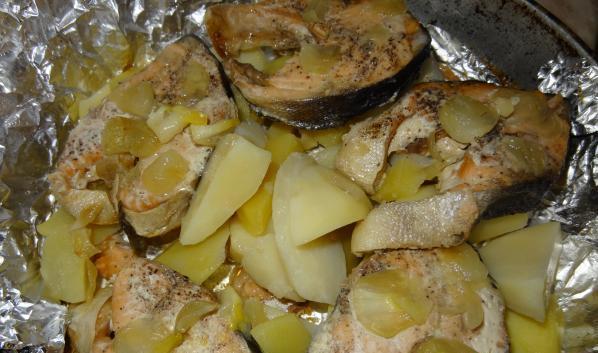 реклама лифтах горбуша с картошкой в духовке рецепты ответственный