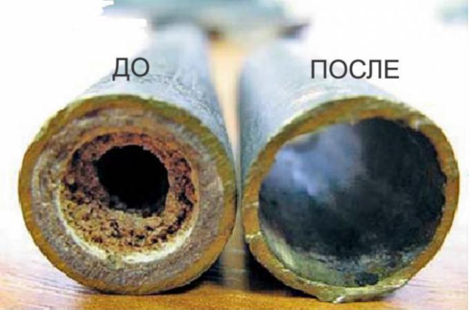 Результат промывки теплообменника