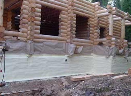 Как самому утеплить фундамент деревянного дома