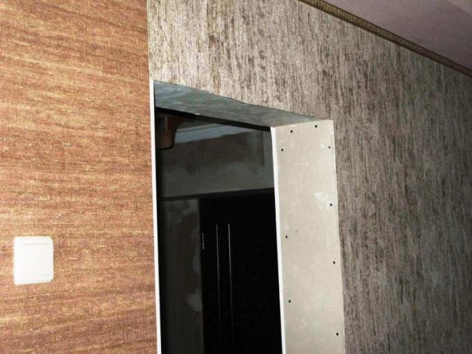 Наращивание дверного проема гипсокартоном