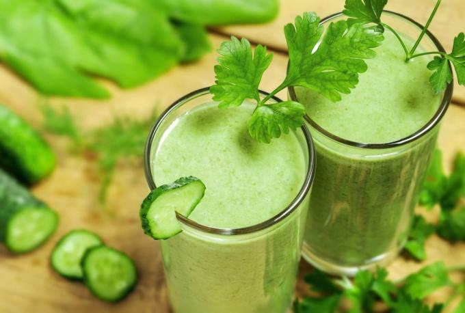 зеленые смузи фото